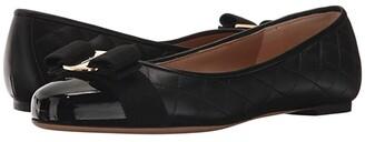 Salvatore Ferragamo Varina Quilted Flat (Nero/Nero/Nappa Nero) Women's Dress Flat Shoes
