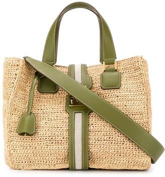 Mark Cross Raffia Tote Bag