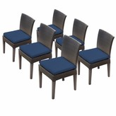 Tegan Patio Dining Chair with Cushion Sol 72 Outdoor Cushion Color: Navy