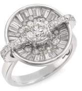 Pleve Opus Ice Diamond & 18K White Gold Round Ring
