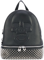 Philipp Plein studded skull backpack - women - Calf Leather/metal - One Size