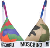 Moschino camouflage logo tape triangle bra