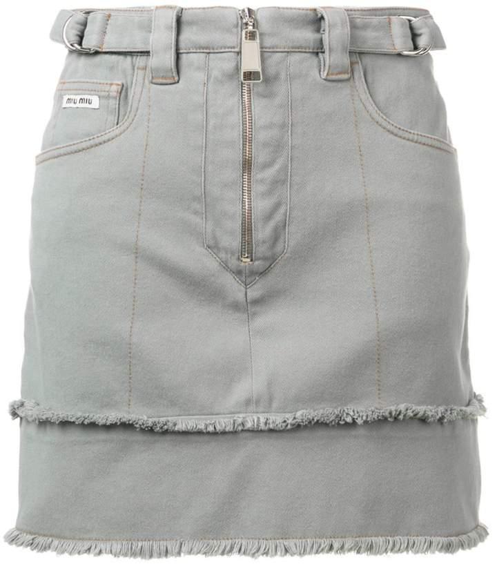 72b300cd3f Grey Denim Skirt - ShopStyle