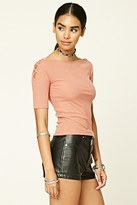 Forever 21 FOREVER 21+ Strappy Cutout Raglan Top