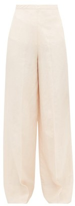 Jil Sander High-rise Twill Wide-leg Trousers - Light Pink