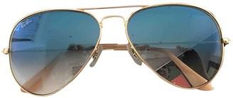 Ray-Ban Aviator Blue Metal Sunglasses
