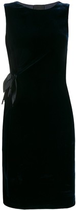 Lanvin Pre Owned 2008 Fitted Velvet Dress
