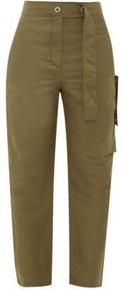 Acne Studios Peganne Slubbed Technical Peg Trousers - Womens - Khaki