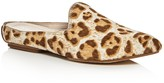 Donald J Pliner Rue Leopard Print Calf Hair Pointed Toe Mules