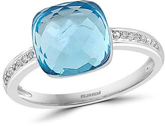 Effy 14K 4.74 Ct. Tw. Diamond & Blue Topaz Ring