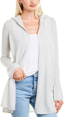 Forte Cashmere Open Front Cashmere Hoodie