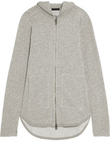 ATM Anthony Thomas Melillo French Cotton-blend Terry Hooded Top - Gray
