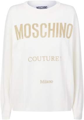 Moschino Logo Knit Sweater