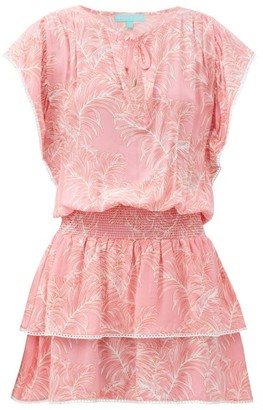 Melissa Odabash Keri Leaf-print Crepe Mini Dress - Red Print