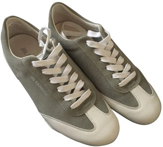 Jil Sander Anthracite Leather Trainers