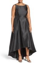Adrianna Papell 'Arcadia' Sleeveless High/Low Mikado Ballgown (Plus Size)