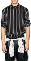 Haider Ackermann Men's Striped Double-Faced Crepe Shirt