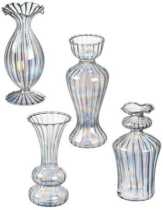 Sullivans Iridescent Mini Bud Vases - Set of 4