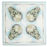Alexander McQueen Skull Map Silk Scarf