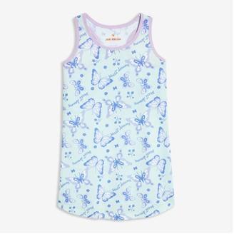 Joe Fresh Kid Girls' Tank Chemise, Pastel Blue (Size L)