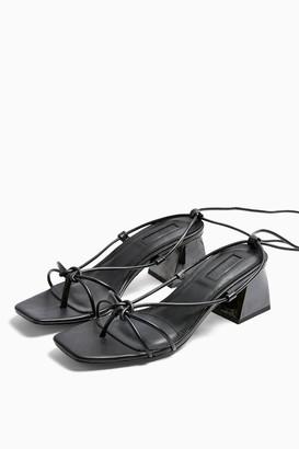 Topshop NIKITA Black Strap Sandals