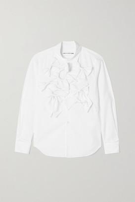 COMME DES GARÇONS GIRL Bow-embellished Cotton-poplin Shirt - White