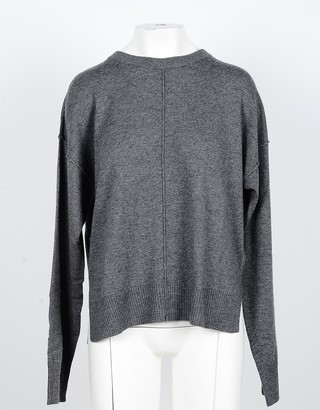 NOW Anthracite Cashmere and Wool Women's Sweater