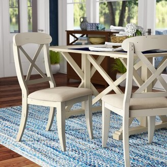 Beachcrest Home Bridgeview Upholstered Dining Chair (Set of 2 Color: Bisque