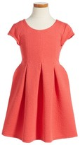 Iris & Ivy Girl's Cap Sleeve Skater Dress