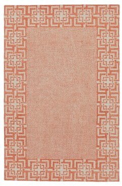 "Company C Lexington Oriental Hand Hooked Wool Orange/Ivory Area Rug CompanyC Rug Size: Rectangle 8'6"" x 12'6"""