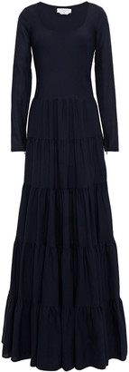 Gabriela Hearst Slava Tiered Wool And Cashmere-blend Maxi Dress