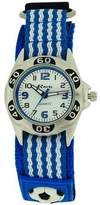 Ravel Analogue Boys Blue & Black Football Fabric Velcro Strap Watch R1507.18