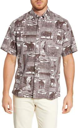 Reyn Spooner Yellowstone National Park Classic Fit Short Sleeve Button-Down Shirt
