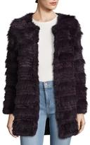 Badgley Mischka Emilia Rabbit Fur Coat