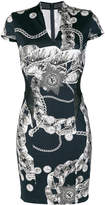 Just Cavalli Chain Reaction fitted dress