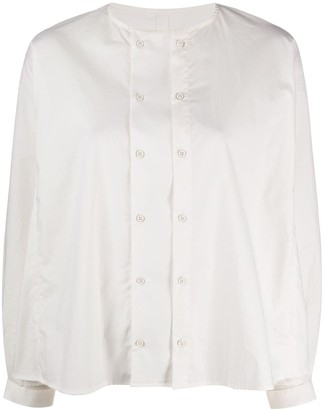 Toogood Chef collarless cotton shirt