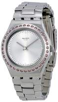 Swatch Irony Pure Powder Silver Dial Ladies Watch