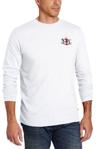 Nautica Men's Long Sleeve Chain Graphic Print Tee