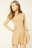 Forever 21 Ribbed Knit Skater Dress