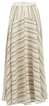 Palmer Harding Palmer//harding - Sunda Striped Linen-blend Maxi Skirt - Beige Stripe