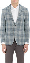 Luciano Barbera MEN'S WINDOWPANE CHECKED WOOL-BLEND TWO-BUTTON SPORTCOAT