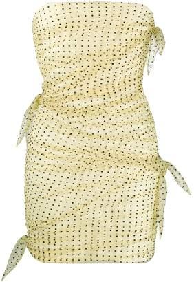 Philosophy di Lorenzo Serafini draped polka-dot dress