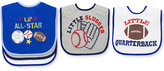First Impressions Baby Boys' 3-Pack Sports Bibs