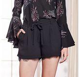 Lauren Conrad Runway Collection Lace-Hem Dress Shorts - Women's