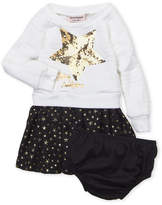 Juicy Couture Infant Girls) Two-Piece Quilted Sequin Star Dress & Underwear Set