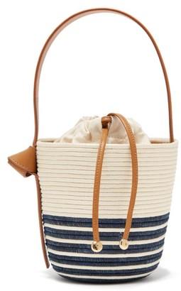Cesta Collective - Half Breton Sisal Basket Bag - Womens - Navy White