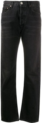 A Gold E Agolde Lana straight-leg jeans