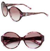 Judith Leiber 57MM Round Embellished Sunglasses