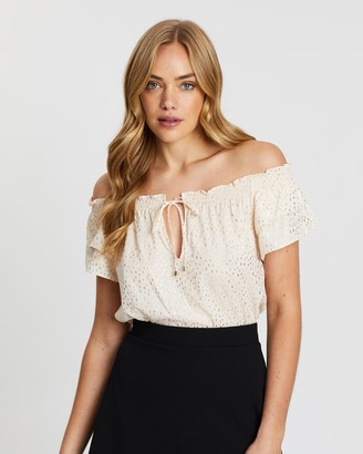 Dorothy Perkins Off-Shoulder Ruffle Blouse