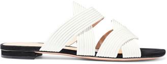 Schutz Cassiane Quilted Leather Slides